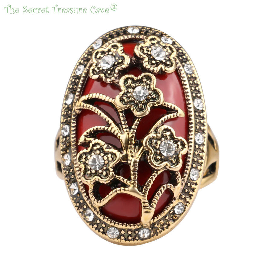 Floral Vintage Rustic Gold Plated Style Women 39 S Cz Agate