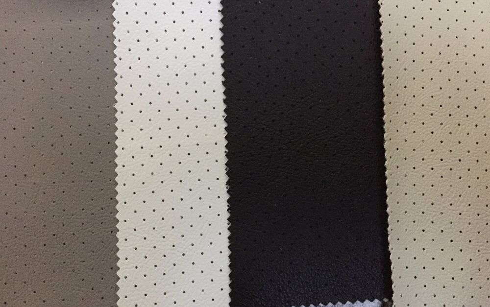 Perforated Leather Headliner Fabric Auto Upholstery