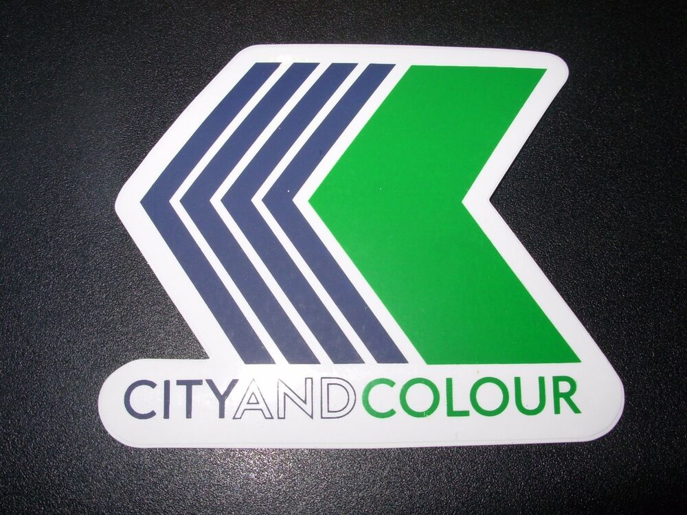 city and colour concert tour merch sticker arrow logo dallas green sometimes ebay. Black Bedroom Furniture Sets. Home Design Ideas