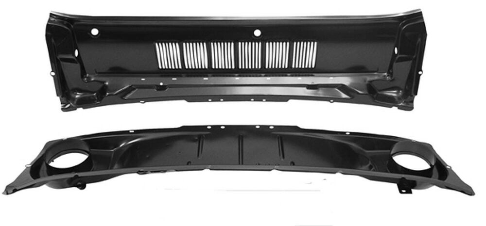 New mustang cowl air vent panel grill at hood