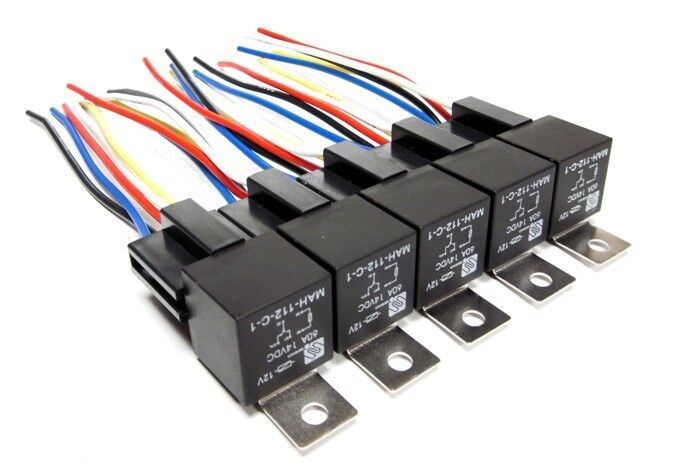 10 pc 60 amp bosch style automotive relays sockets car. Black Bedroom Furniture Sets. Home Design Ideas