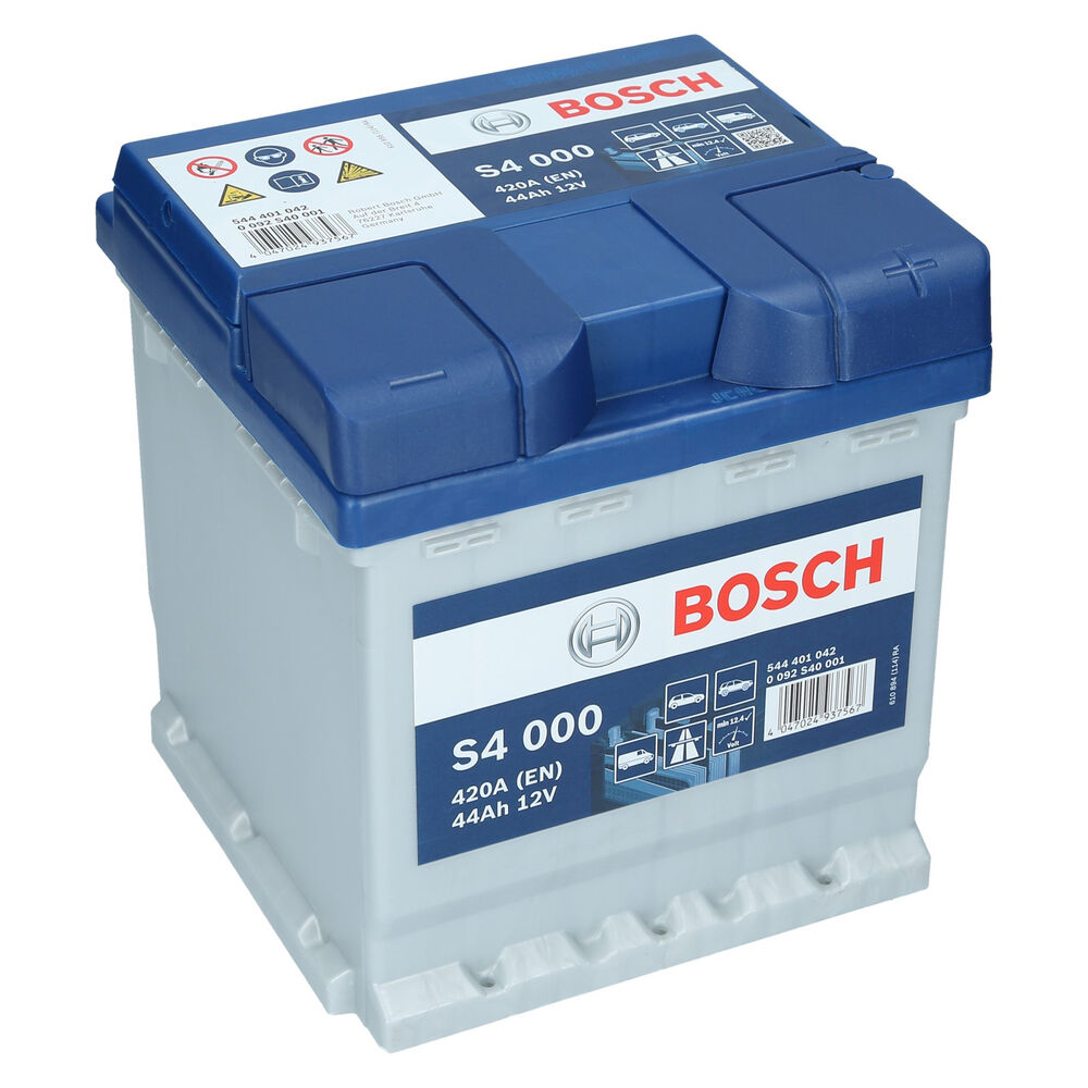 bosch s4 000 12v 44ah 390 a en autobatterie. Black Bedroom Furniture Sets. Home Design Ideas