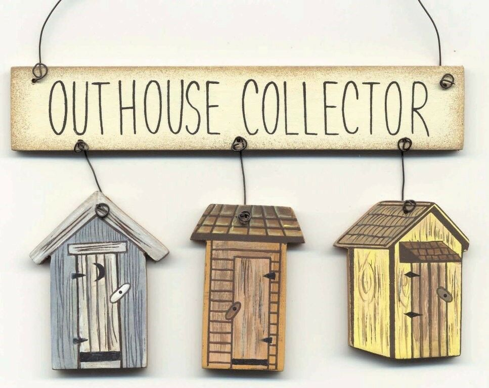"""4x5"""" Rustic Country Wood OUTHOUSE Collector Bath Bathroom"""