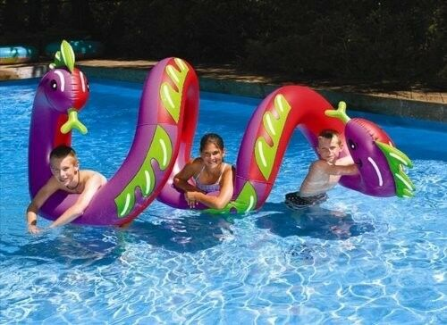 Curly Serpent Pool Float Two Headed Giant Sea Dragon Toy