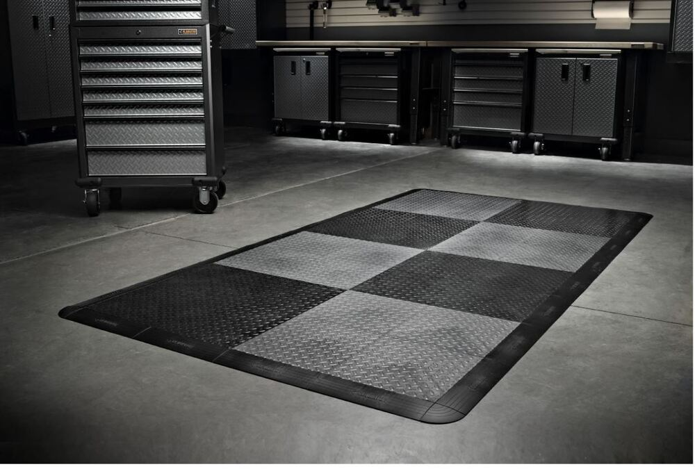 Gladiator Garage Flooring 32 Piece 12in X 12in Tread Plate Floor Tile Tiles New 692620253975 Ebay