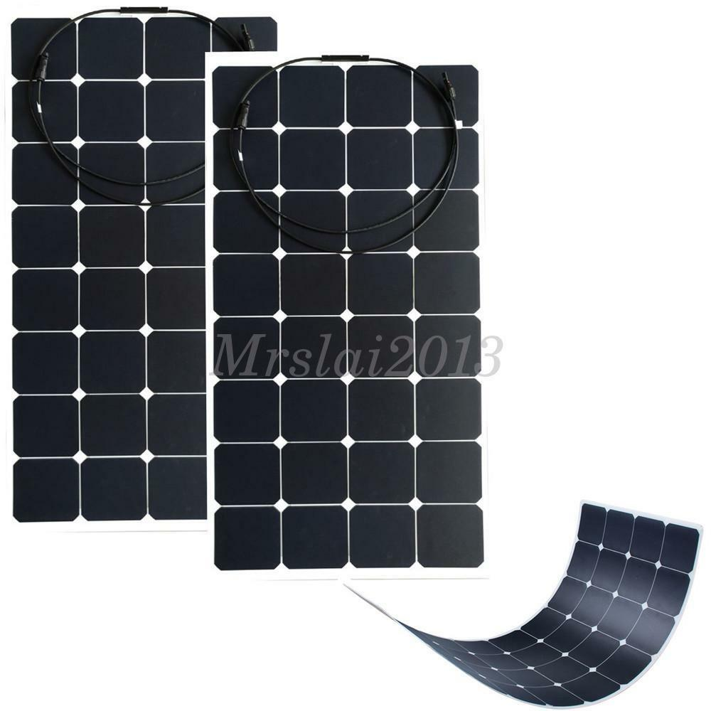 2x 100w solarpanel solarmodul solarzelle photovoltaik. Black Bedroom Furniture Sets. Home Design Ideas