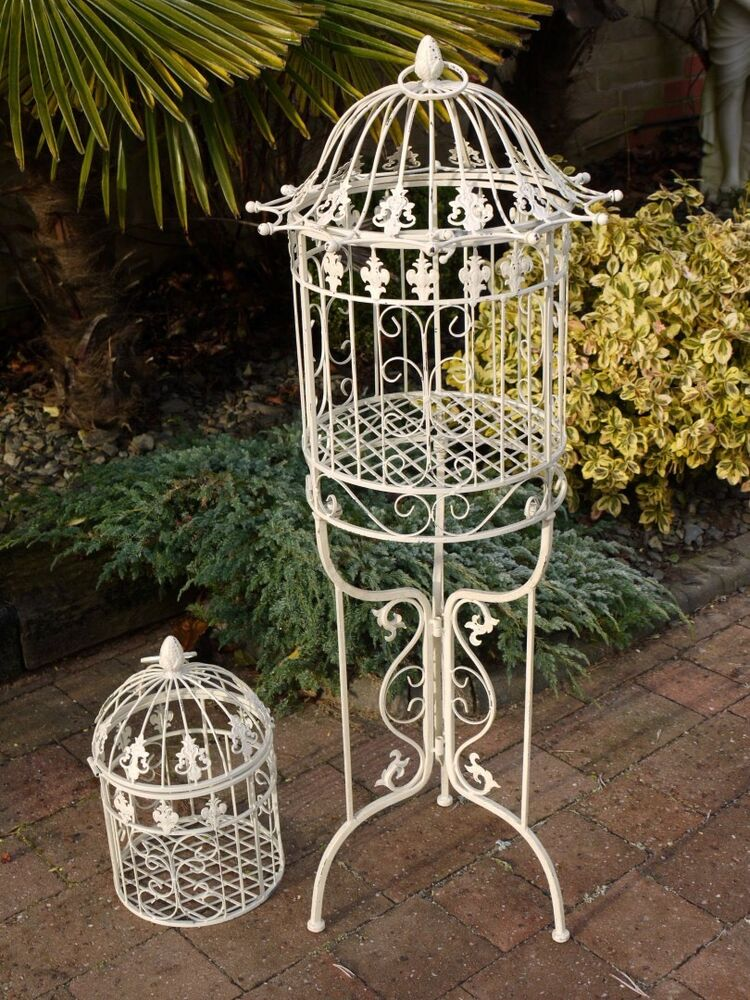 vintage style bird cage on stand ebay. Black Bedroom Furniture Sets. Home Design Ideas