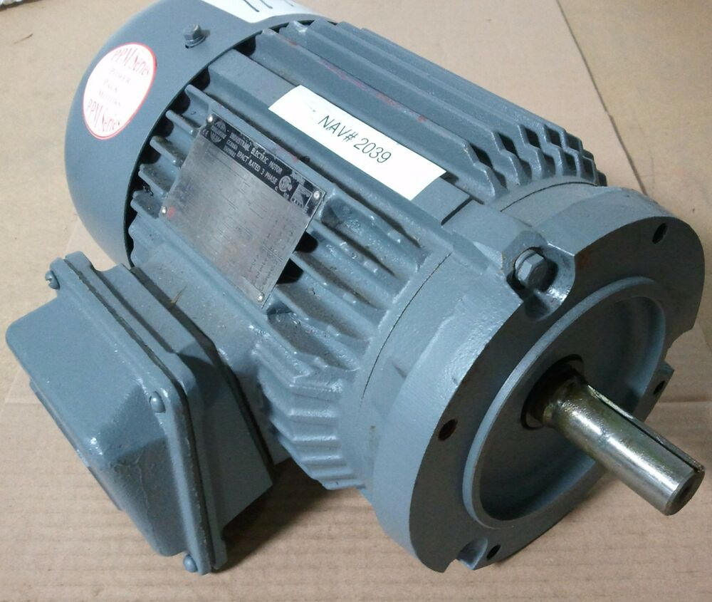 World wide 1 1 2 hp 3 phase motor wwe1 5 18 145tcrd new for 3 phase 3hp motor