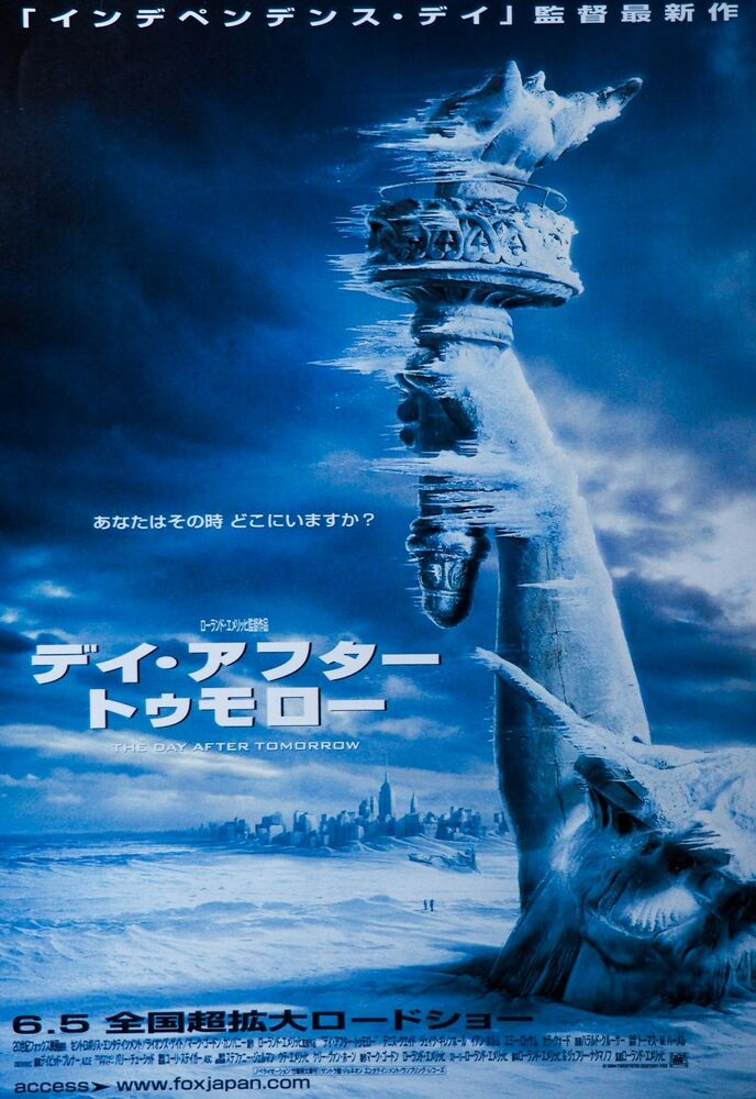 Image result for a day after tomorrow movie poster