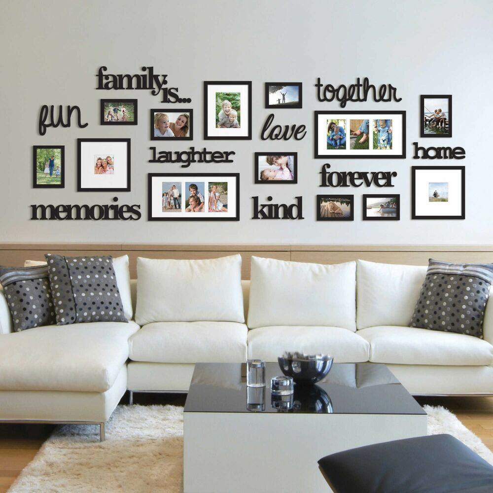 Family Home Decor: 22 Pcs Word Family Is Photo Picture Frame Collage Set