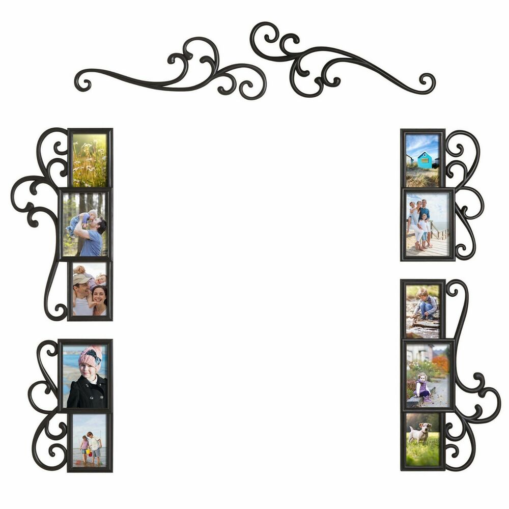 6 piece over the door photo picture frame collage set for Home frames wall art