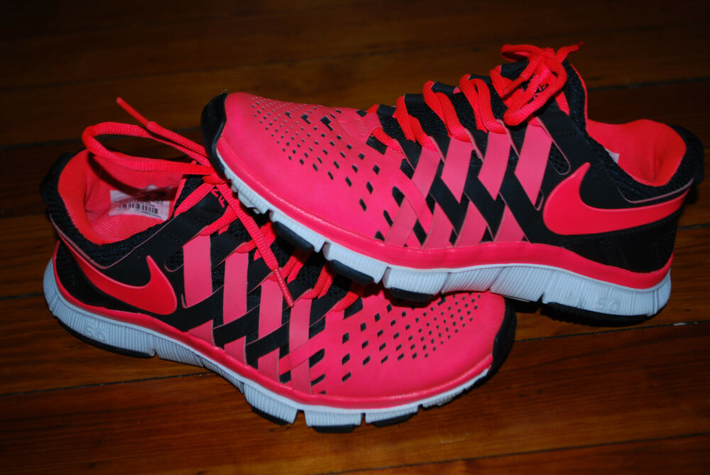 Details about Men s Nike Free Trainer 5 0 Weave Sneakers (6.5) White    Black   Atomic Red c848f2403c72