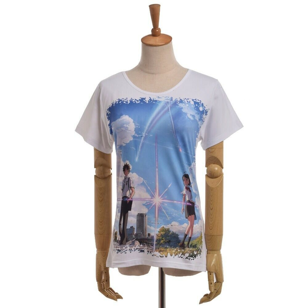 Anime Your Name Kimi No Na Wa T Shirt Short Sleeve Tee Unisex