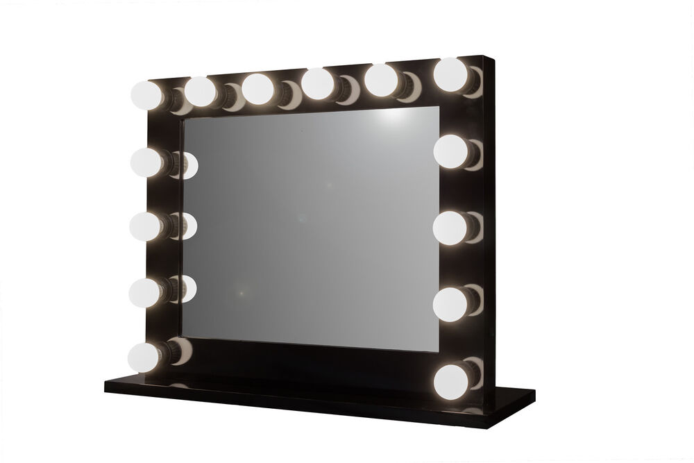 Lighted Vanity Mirror Large : Grand Hollywood Lighted Vanity Mirror w/ LED Bulbs & Double Outlet eBay