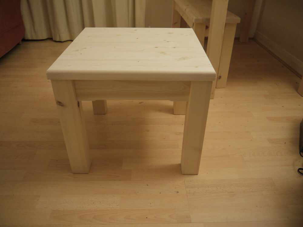 Solid Handmade Wooden Coffee Table Side Table End Table Ebay