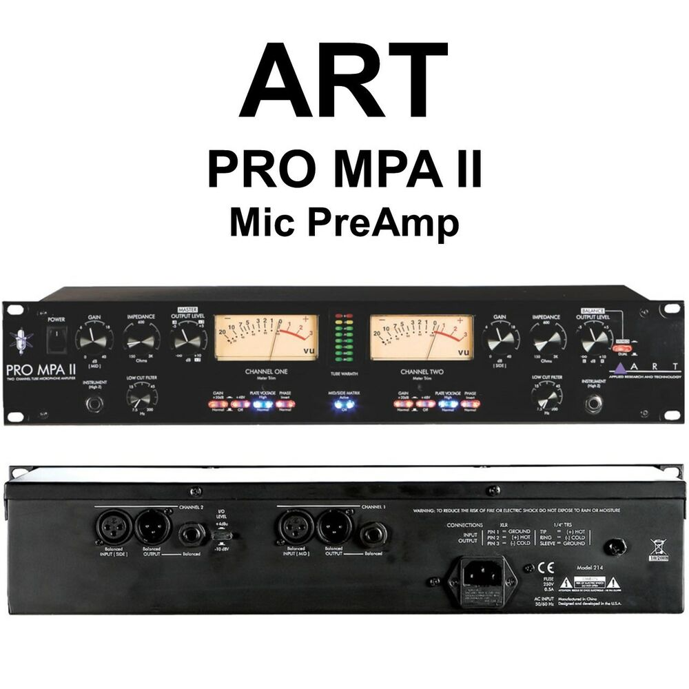 art pro mpa ii 2 channel rackmount live studio stage mic preamp ebay. Black Bedroom Furniture Sets. Home Design Ideas