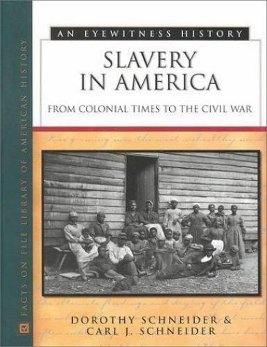 a history of slavery in colonial america Colonial america facts and history begin with the first permanent colony in jamestown and eventually spread to the east coast of colonial america facts: slavery.