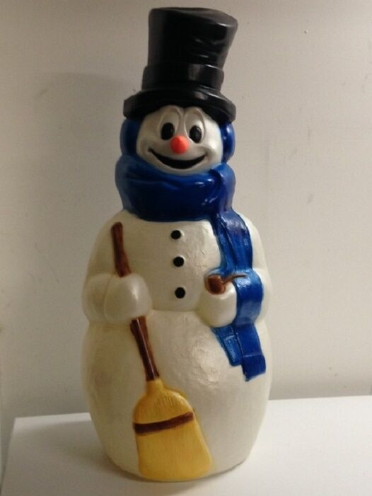 """42"""" Snowman w Blue Scarf Plastic Blow Mold Lighted ..."""