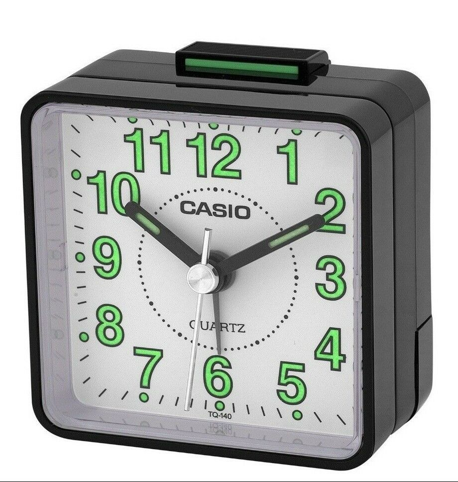 casio tq140 1b travel desk quartz alarm clock neobrite. Black Bedroom Furniture Sets. Home Design Ideas