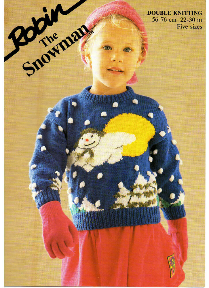 Free Christmas Knitting Patterns Jumpers : The snowman jumper christmas childs vintage knitting