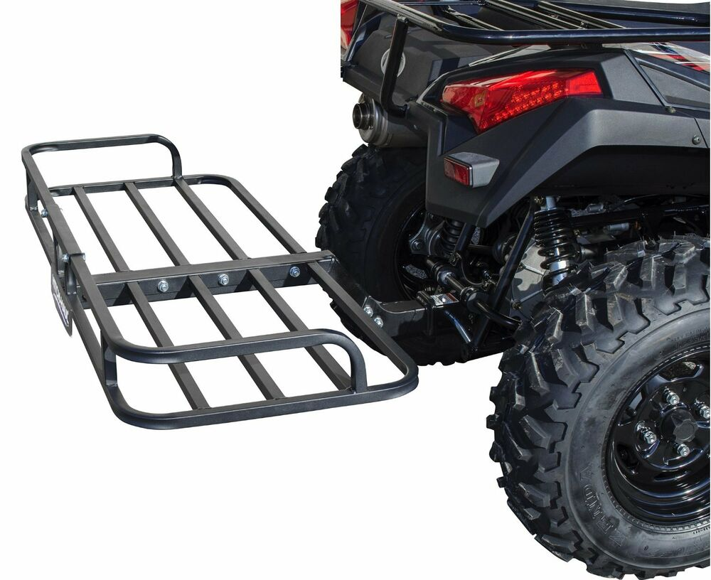 Atv Cargo Rack Quad 4 Wheeler Carrier Rear Hitch Mount