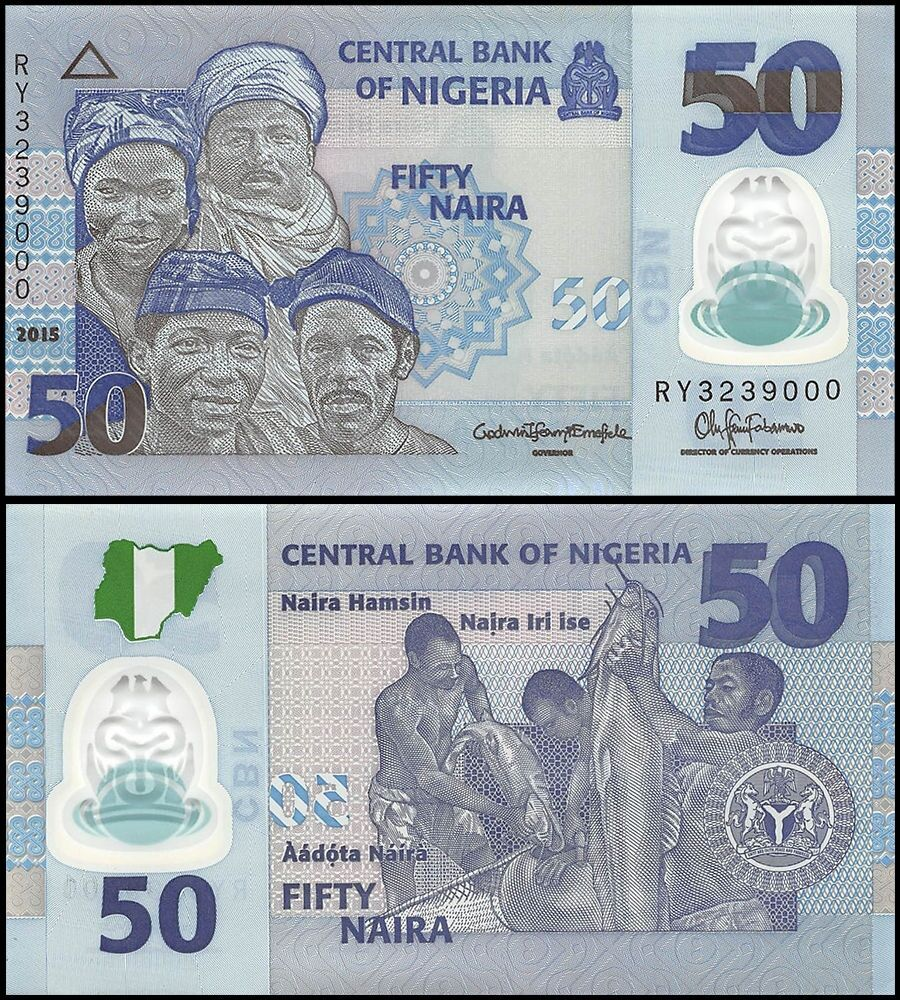 Details About Nigeria 50 Naira Banknote 2017 P 40e Unc Polymer