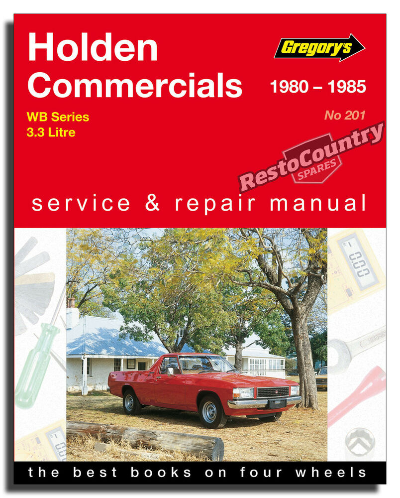 Holden WB Commercial - 6cyl Workshop Service + Repair Manual 1980-85 book  3.3 | eBay