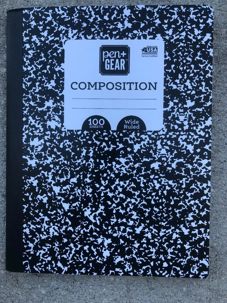 Buy 2 Get 1 Free Black White Composition Book Wide Ruled