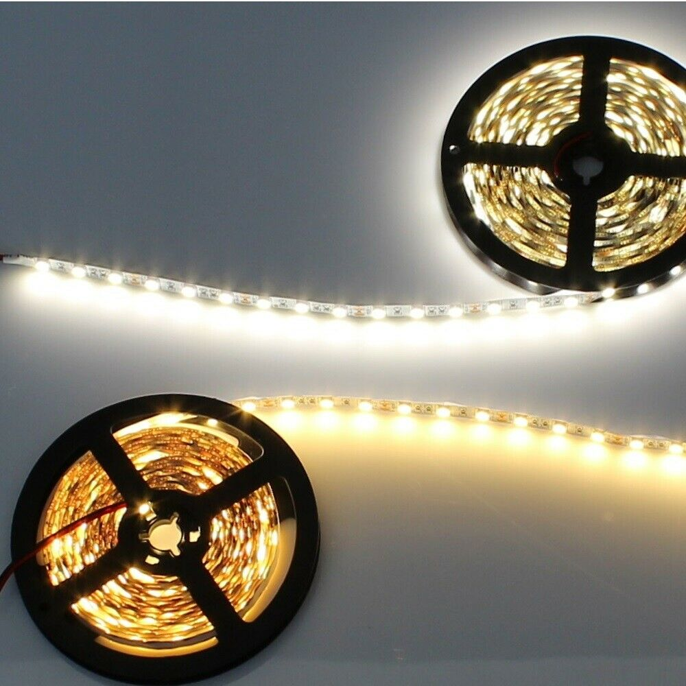 led stripe 2700k 4000k wei 5050 smd 1 15m lichtleiste streifen lichterkette neu ebay. Black Bedroom Furniture Sets. Home Design Ideas