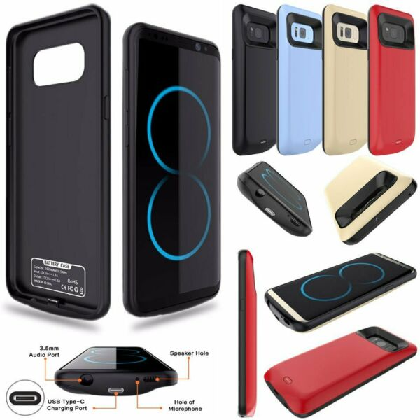8000mAh External Battery Charger Power Case For Samsung Galaxy S7 Edge S8 + S9+
