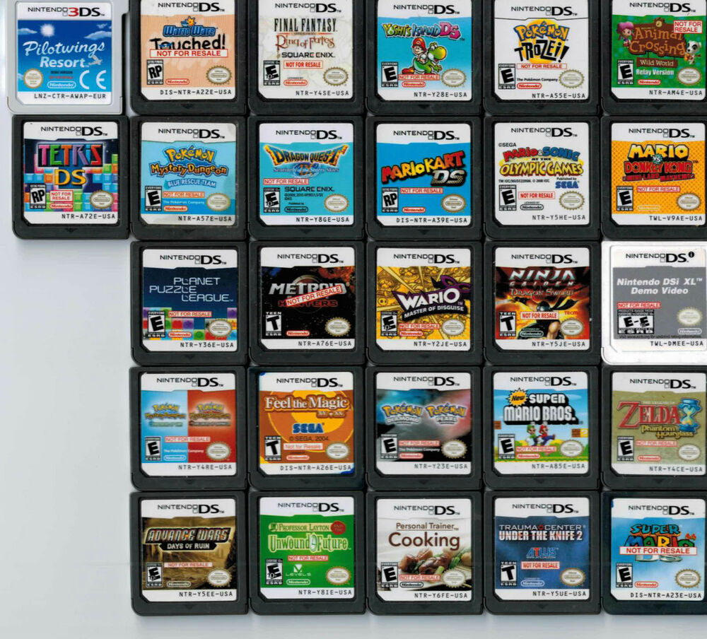 Lot of 27 Nintendo NDS DS 3DS NFR Not For Resale Store ...