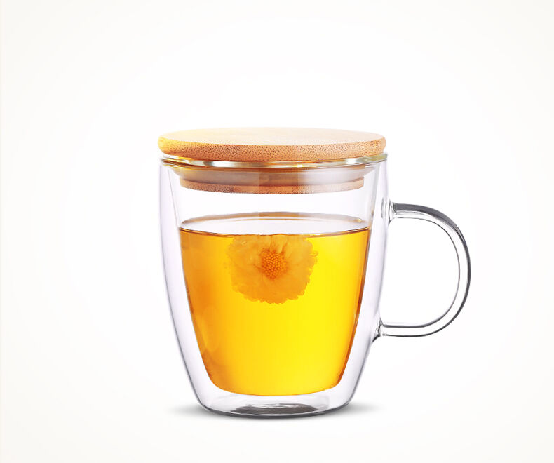 Double Wall Clear Glass Coffee Tea Latte Drinking Cup Mugs