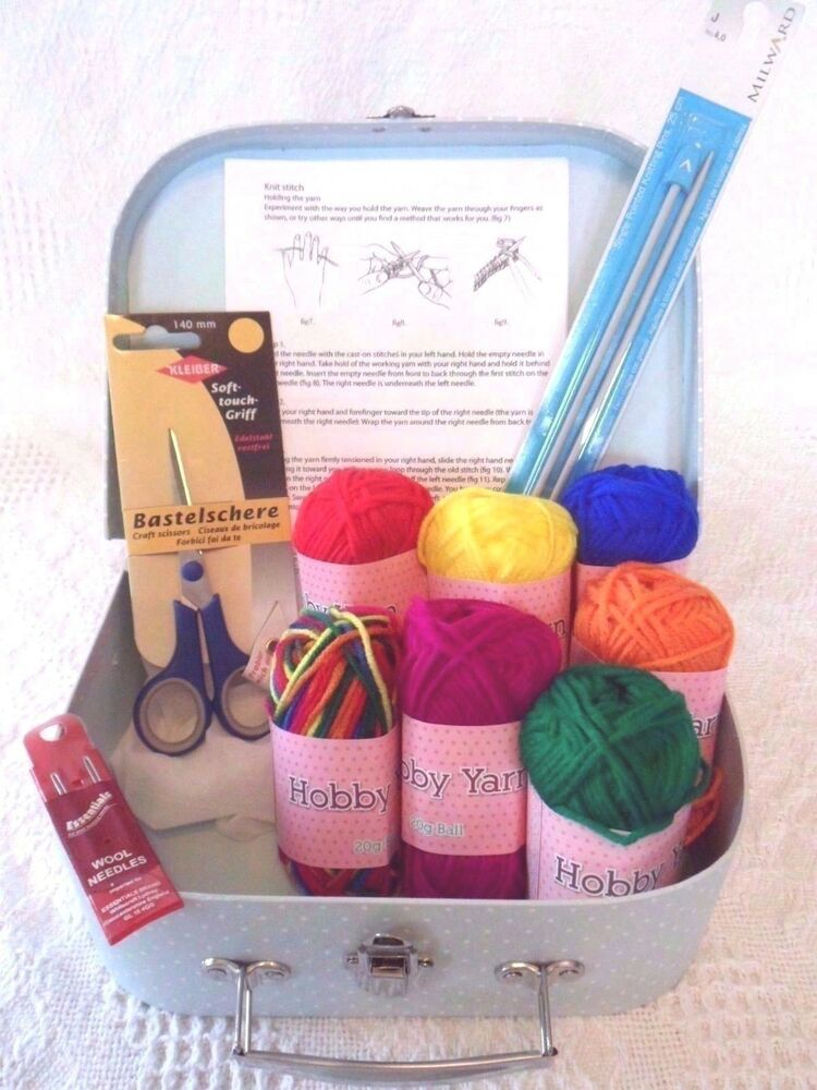 Knitting Kits For Beginners Uk : Beginners knitting kit learn how to knit everything