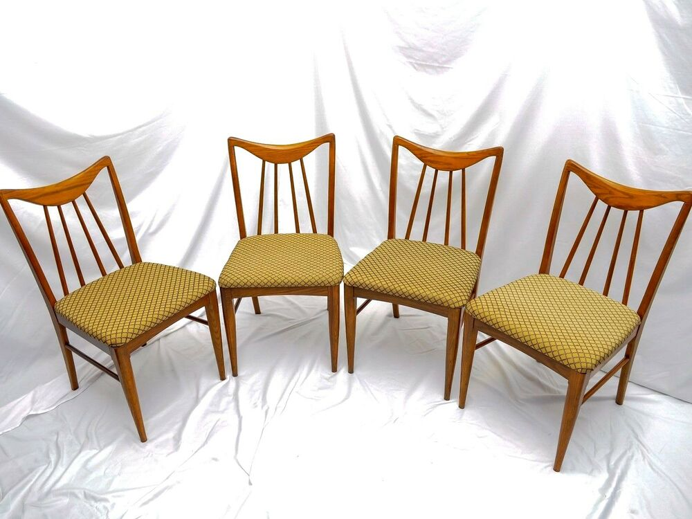 4 mid century modern danish dining chairs designed by for Mid century danish modern chair