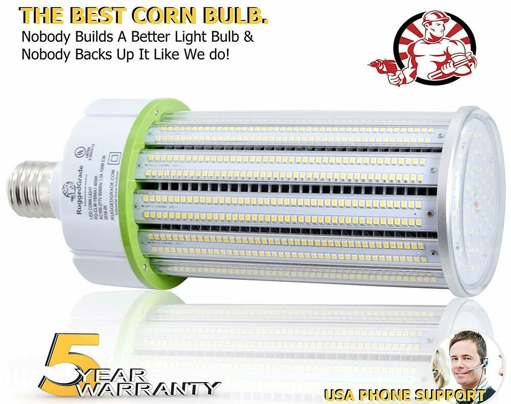 150 watt e39 led light bulb 17 200 lumens 4000k ul dlc led corn bulb ebay. Black Bedroom Furniture Sets. Home Design Ideas