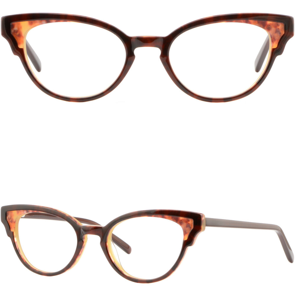 d6d711dbf01 Details about Brown Women s Plastic Frames Cute Vintage Cat Eye Eyeglass  Prescription Glasses