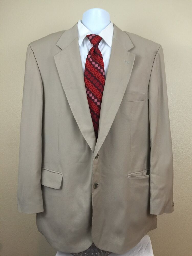 ll bean blazer sports coat wool blend beige 48 tall made in usa ebay. Black Bedroom Furniture Sets. Home Design Ideas