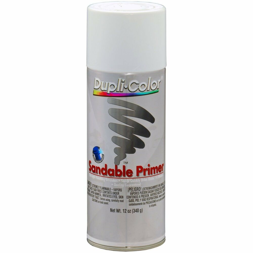 duplicolor dap1689 white sandable primer 12oz aerosol. Black Bedroom Furniture Sets. Home Design Ideas