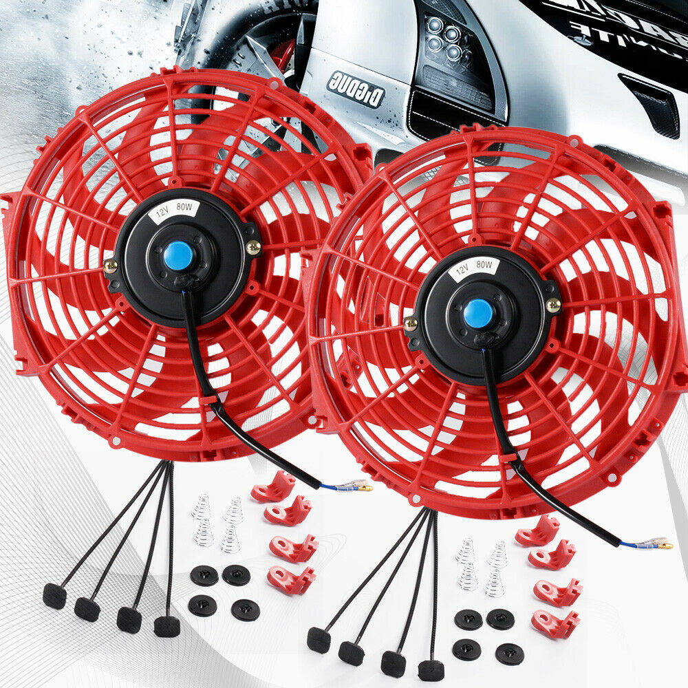2 X 12 Quot Inch Universal Slim Fan Push Pull Electric