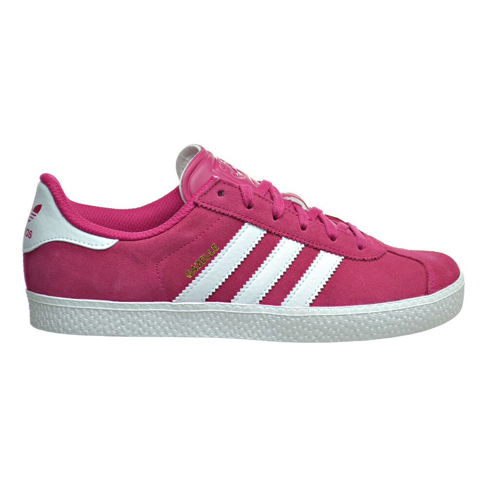 Details about Adidas Gazelle 2 J Big Kid s Shoes Bold Pink White White  ba9315 5c79cfaaf81