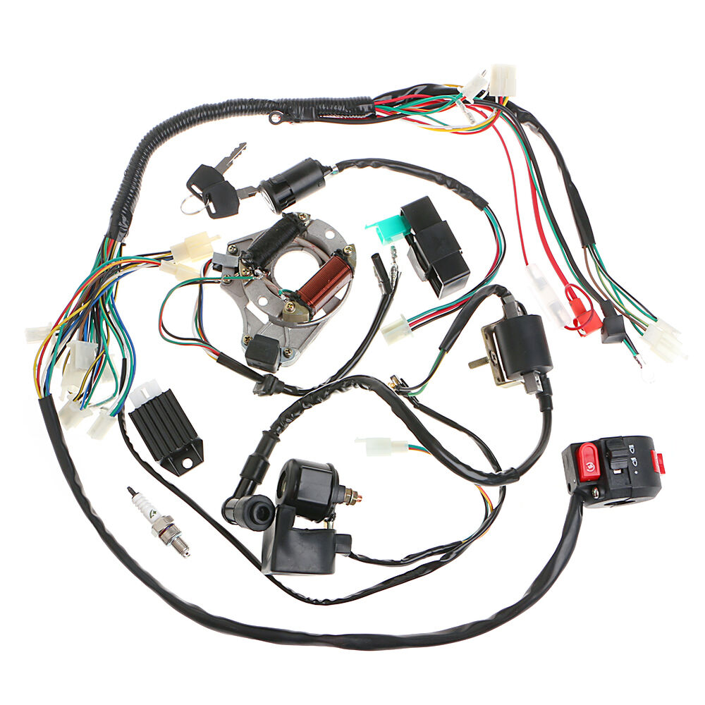 50 70 90 110cc cdi wire harness assembly wiring set atv. Black Bedroom Furniture Sets. Home Design Ideas