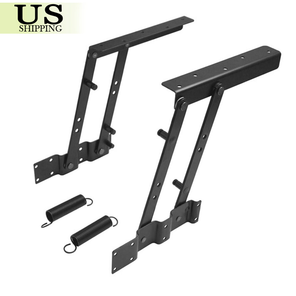 lift up top coffee table hardware fitting furniture mechanism hinge spring diy ebay. Black Bedroom Furniture Sets. Home Design Ideas