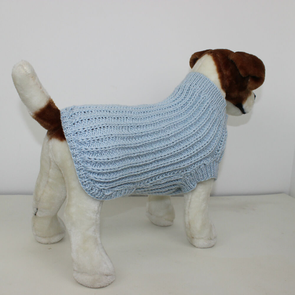 Knitting Pattern Dog Jacket : PRINTED KNITTING INSTRUCTIONS - SIMPLE FISHERMANS RIB DOG COAT KNITTING PATTE...