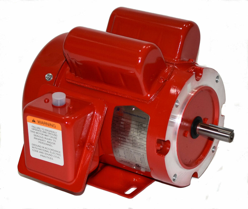1 Hp Electric Motor 56 Or 56c Frame 1725 Rpm 115 230 1