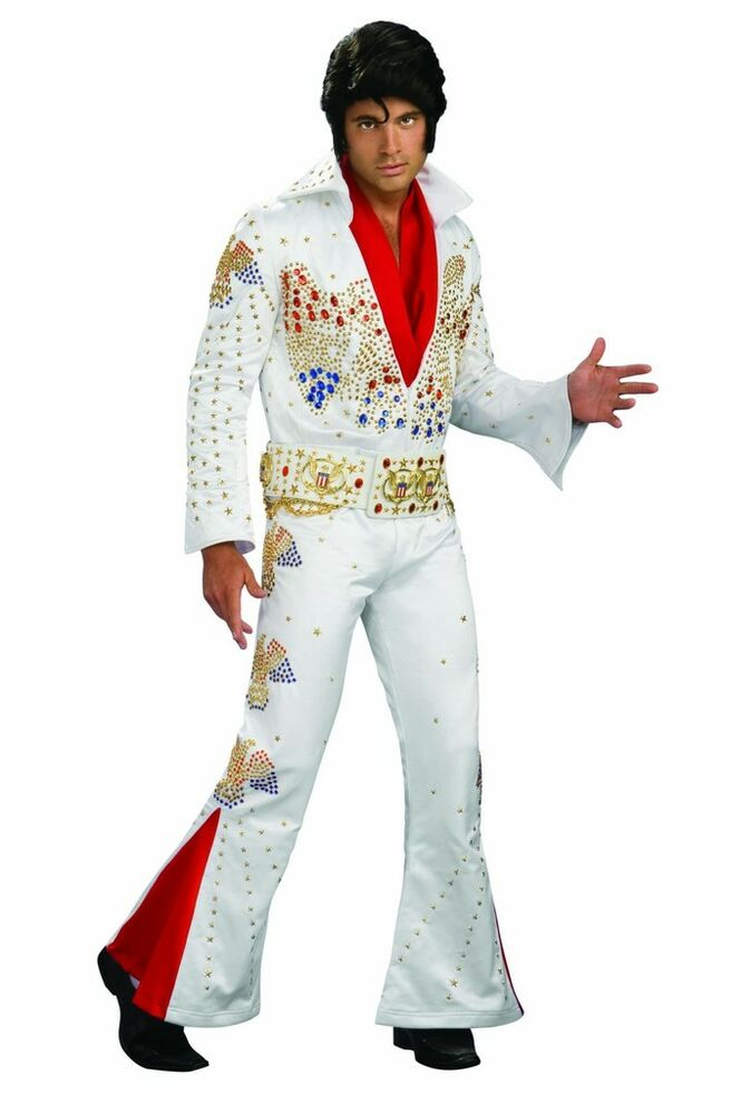 Elvis Presley Aloha Eagle White Jumpsuit Rental Quality Collector Adult Costume | eBay  sc 1 st  eBay & Elvis Presley Aloha Eagle White Jumpsuit Rental Quality Collector ...