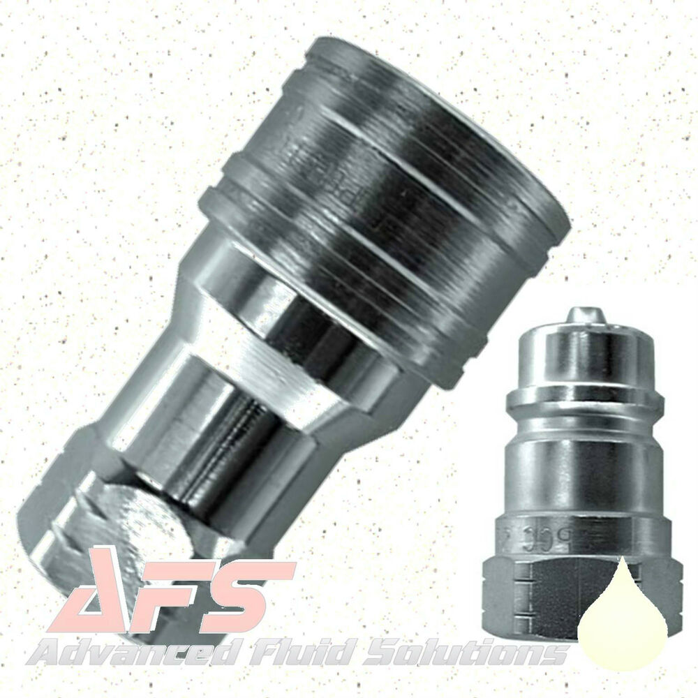 Iso a quick release couplings hydraulic qr connect