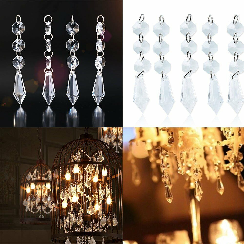 30x acrylic crystal hanging decoration garland bead for for Acrylic decoration