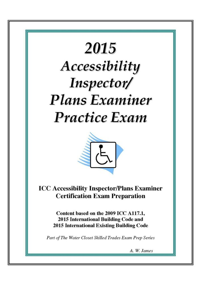 2015 Icc Accessibility Insp Plans Examiner Practice Exam On Usb