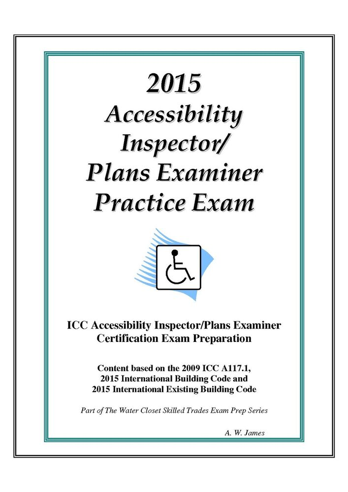 2015 ICC Accessibility Insp/ Plans Examiner Practice Exam on USB ...