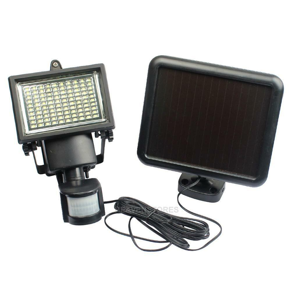 Outdoor Security Lights Pir: 100 LED Solar Powered PIR Motion Sensor Security Flood